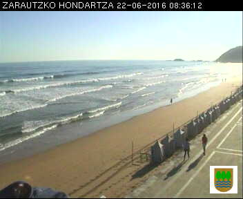 webcam playa Zarautz